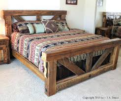 rustic bed frame u2013 tappy co