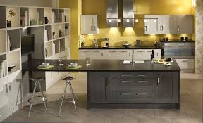 Oak Shaker Kitchen Cabinets Clonmel Oak Modern Anthracite U0026 Mussel Kitchen Stori