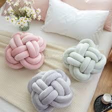 knot pillows creative home colourful knot cushion pillow sofa cushions living