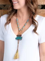 beaded tassel necklace images Accessories roam free long beaded tassel necklace jpg