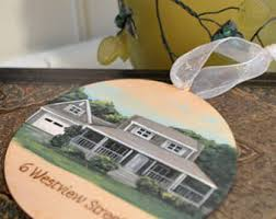 custom house painted ornament handpainted personalized house