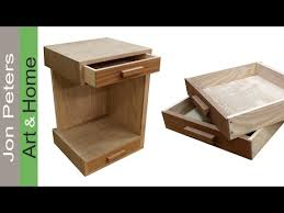 how to build a bedside table u2013 nightstand free plans youtube
