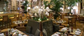 iconic new york restaurant and bar the palm court at the plaza hotel