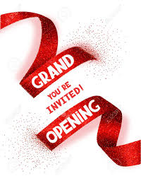 grand opening ribbon grand opening card with abstract ribbon royalty free cliparts