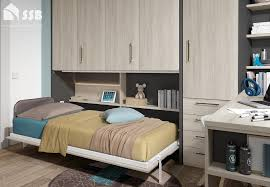 horizontal wall bed single space saving bed with storage