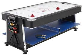 3 in 1 air hockey table mightymast leisure 7ft full size revolver 3 in 1 multigames table