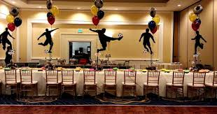 Award Ceremony Decoration Ideas Sports Banquet Centerpieces Balloon Designs Fabric Draping