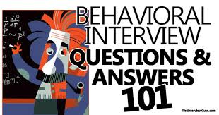 behavioral questions and answers 101