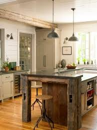 barnwood kitchen island distressed green kitchen cabinets with black wooden tops