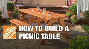 Cooler Patio Table How To Build A Picnic Table With Built In Cooler The Home Depot