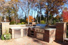 lake forest outdoor kitchen and built in grill van zelst