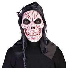 horror halloween costumes black hooded bloody skull mask reaper zombie horror halloween