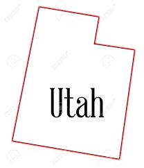 Utah State Map Utah Clipart Outline Clipartfest