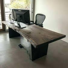 Walnut Home Office Desk Custom Office Desk Front View Of Desk Custom Desks For Home Office