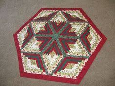 quilted table topper brown green pine cones by hollyshutch