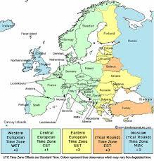 utc zone map belarus zone