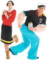 Popeye Olive Oyl Halloween Costumes Popeye Olive Oyl Fancy Dress Couples Hallowen