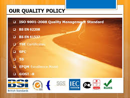 Iso 9001 Quality Policy Statement Exle by Company Presentation Ppt