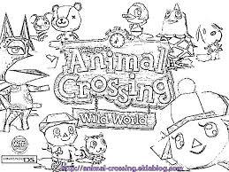 Coloriage acww logo  Le monde danimal crossing ds