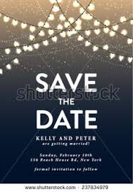 save the date sts save the date invite card template vector illustration save the