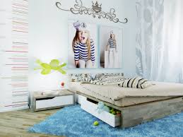 Beautiful Wall Stickers For Room Interior Design Beautiful Minimalist Kids Bedroom Design Scheme With Idyllic Wall