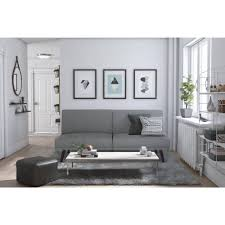 How To Make Your Bed More Comfortable by Dhp Lone Pine Linen Futon Gray Linen Walmart Com