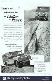 vintage jeep ad 1950s uk land rover magazine advert stock photo royalty free