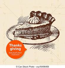 clip vector of vintage thanksgiving day