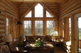 log cabin living rooms home design ideas and pictures