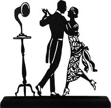 vintage cocktail party clipart 1920 u0027s dancing couple handmade display wood silhouette decoration
