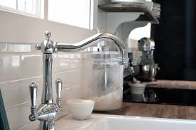 kitchen kitchen white square sink with vintage choper faucet of