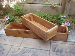 Wooden Window Flower Boxes - diy wood planter boxes for indoor or outdoor garden house design ideas