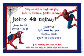 spiderman birthday invitations kawaiitheo com