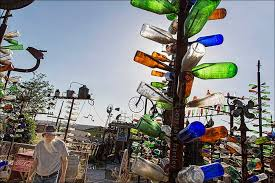 elmer s bottle tree ranch rt 66 offers peace and joyous light