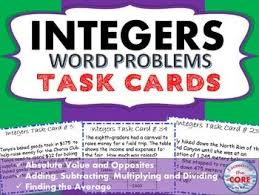 41 best integers images on pinterest subtracting integers