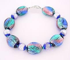 glass bracelet images Northern lights tri color foil glass bracelet jpg