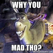 why you mad tho donkey shrek meme generator