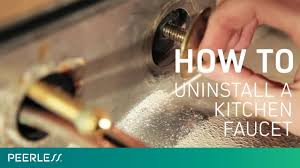 how to disconnect kitchen faucet how to remove a kitchen faucet youtube