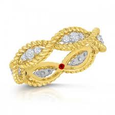 braided ring roberto coin braided diamond ring 7771066ajx