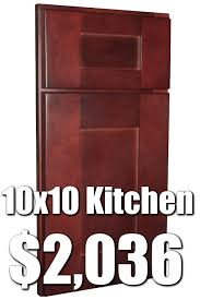 Unassembled Kitchen Cabinets Cheap Rta Cognac Shaker 10x10 Kitchen Cabinets For 2 036 57 Buy Rta