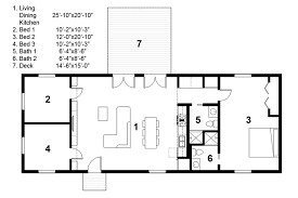 3 Bedroom 2 Bath 1 Story House Plans by Rectangular House Plans Vdomisad Info Vdomisad Info