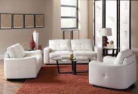 living room white with tufted sofa and loveseat forcontemporery