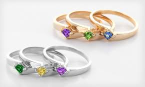 stackable birthstone ring stackable birthstone rings groupon goods