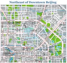 Map Of Beijing China by Map Of Beijing The Northeast Part Of Downtown Beijing China