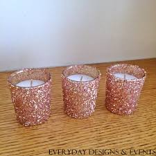 25 rose gold votive candle holders wedding centerpiece rose gold