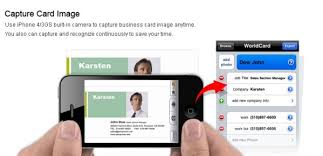 App To Scan Business Cards Business Card Scanning App Ipad Infocard Co