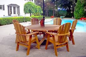 cedar patio furniture round table home round