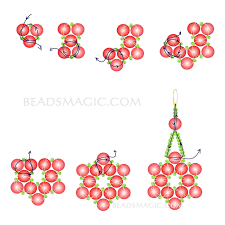 free pattern for earrings pearl of the stars beads magic