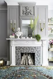 Wohnzimmer Ideen In Grau 45 Kamin Deko Ideen So Können Sie Den Kaminsims Kreativ Dekorieren