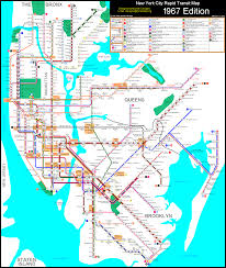 Nyc City Subway Map by Calcagno 1967 System Gif